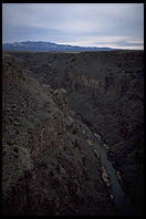 Canyon formed by the Rio Grande, north of Taos, New Mexico