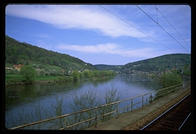 View from my train going along the Elbe River south from Berlin to Prague