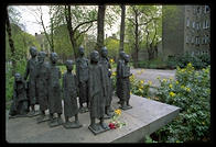 Soviet memorial to the victims of the Nazis, on the site of the old Jewish cemetery in Berlin (dug up by the Nazis)