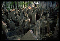 The Jewish cemetery, a staple of Prague tourism