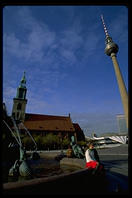 The television tower in Alexanderplatz represented the height of Communist technology
