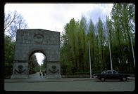 Entrance to Treptower Park, the Soviets' massive WWII memorial in East Berlin