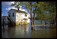 A flooded house in St. Charles, Missouri 1993.