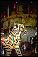 The Kit Carson Carousel, one of the few tourist attractions along I-70 in the flat portion of Colorado