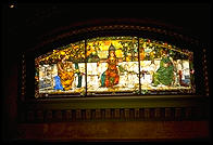 A stained glass window in the old train station.  St. Louis, Missouri