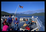 The sun deck on an Alaska Marine Highway ferry.