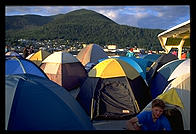 Tents on an Alaska Marine Highway ferry.