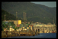 Containers in Ketchikan, Alaska.