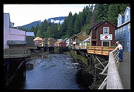 The nice part of downtown Ketchikan, Alaska.