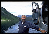 The pilot who brought me into Misty Fjords National Monument, standing on one of the plane's floats.