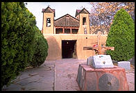 Exterior of the church in Chimayo, New Mexico