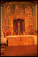 Interior of the church in Chimayo, New Mexico