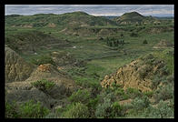 The Badlands of North Dakota, near/in Theodore Roosevelt National Park