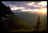 Sunset from Going to the Sun Road, Glacier National Park (Montana)