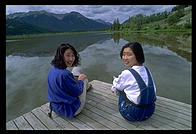 Keiko and Kazuyo, Japanese on holiday in Banff National Park (Alberta, Canada)