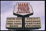 Mark Twain Center strip mall.  Angels Camp, California.