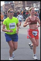 Boston Marathon.  Kenmore Square (1 mile from finish line)