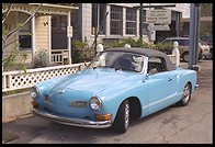 Karmann Ghia (Volkswagen).  Sutter Creek.  Highway 49.  California
