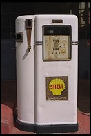 Shell gas pump.  Sutter Creek.  Highway 49.  California