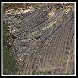 Devils' Postpile.  Mammoth, California