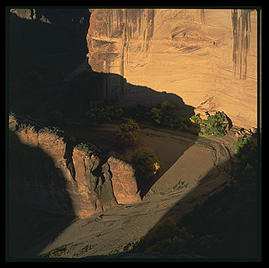 Sunrise at Canyon de Chelly (northeast Arizona).