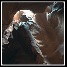 The Corkscrew, a slot canyon on the Arizona/Utah border, near the Glen Canyon Dam