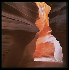 Near the entrance to The Corkscrew, a slot canyon on the Arizona/Utah border, near the Glen Canyon Dam