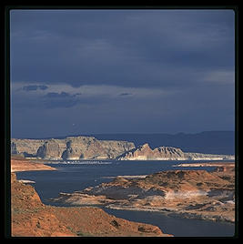 The southern tip of Lake Powell (southern Utah; formerly the beautiful Glen Canyon until we decided to fill it with muddy Colorado River water and sediment).