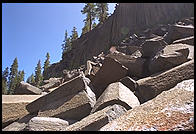 Devil's Postpile. Near Mammoth Lakes, California.
