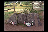 John Belushi's grave, Chilmark cemetery, Martha's Vineyard, Massachusetts