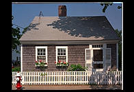 A traditional Cape-style house in Edgartown, Martha's Vineyard, Massachusetts
