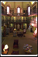 The reading room at the Concord library
