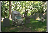 Emerson's Grave at Author's Ridge in Concord, Massachusetts