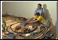 Ira and Ian with the train set (35mm)