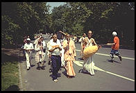 Hare Krishna.  Central Park, New York.