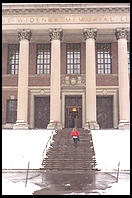 Widener Library.  Harvard Yard.