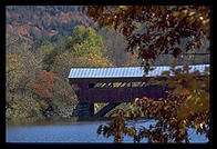 Covered bridge just east of Woodstock, Vermont