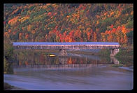 The longest covered bridge in the United States, spanning the Connecticut river and connecting New Hampshire and Vermont about 20 miles south of Hanover, NH.