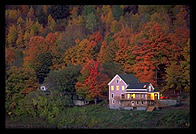 A house along the shores of the Connecticut river, about 20 miles south of Hanover, NH