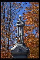 Civil war statue in Woodstock, Vermont
