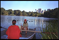 Central Park sailboat pond.  Manhattan 1995.