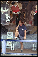 Carny and the Taz.  New Jersey State Fair 1995.  Flemington, New Jersey.
