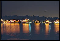 Boathouses along the Schuylkill (Sure-Kill) River.  Philadelphia, Pennsylvania.