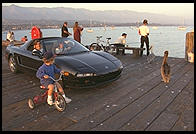 Acura NSX on the Pier.  Santa Barbara, California.