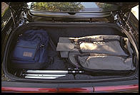 Trunk of Acura NSX (filled up with camera bag + Powerbook).
