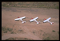 Planes waiting at Bar 10 Ranch.  Grand Canyon