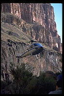 Helicopter taking us out of Grand Canyon