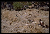 Reenactment of Powell's trip.  Lava Falls.  Grand Canyon National Park.  August 1999.
