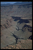 View from plane flying out of Grand Canyon