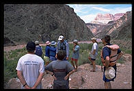 Scouting Crystal rapid. Grand Canyon National Park.